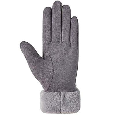 LYDIANZI Frauen-Winter-warme Handschuhe, Gefüttert Suede Cold Weather Dicke Handschuhe, Outdoor-Warm Schnee Ski Handschuhe, Damen Winterreitberg