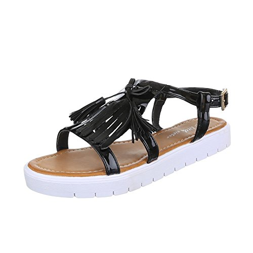 Ital-Design , Sandales / Sandalettes femme Noir