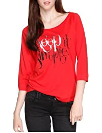 QS by s.Oliver Sweatshirt Manches 3/4 Femme
