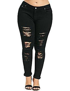 YTJH Pantalones Vaqueros Mujer J