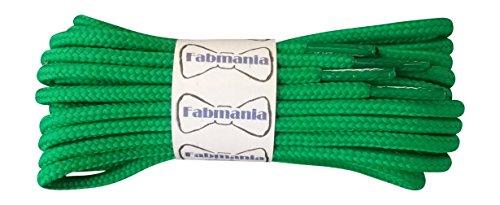 Lacci Verdi per stivali- 4 mm rotondo- ideale per scarpe da trekking e  trekking 27889302feb
