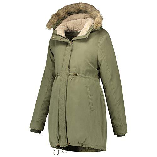 Prénatal Winterjacke für Schwangere Olivgrün Größe M
