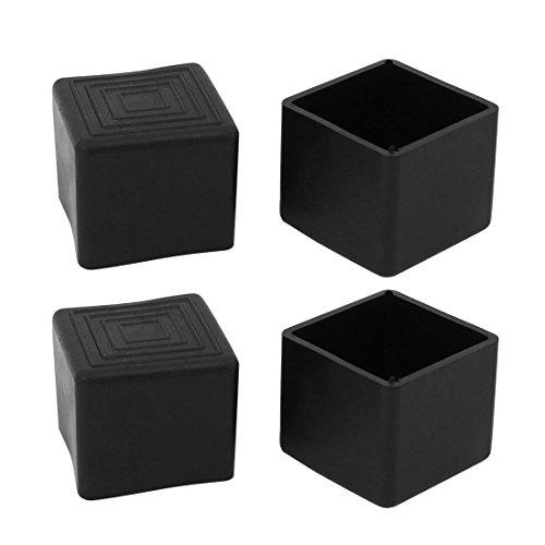 6Pcs 20x20mm PVC carré caoutchouc jambe Cabinet Insert Couverture Protecteur