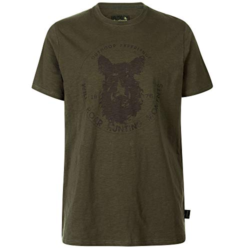 Seeland Flint Jagd T-Shirt in Grizzly Brown und Dark Olive | Jäger T-Shirt (Dark Olive, XL)
