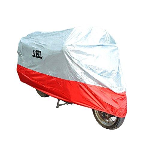 AHL Motorradgarage Abdeckung Faltgarage Cover Regenschutz Wasserdicht Staubdicht Jede Jahreszeit (L,Rot)
