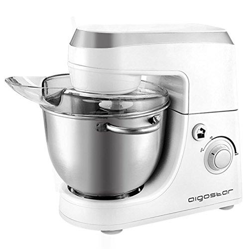 Aigostar Piccolo Mamma White 100hlv–Robot de cuisine: Mélangeur, batteur, mixeur. Couleur Blanc. Libre de BPA.