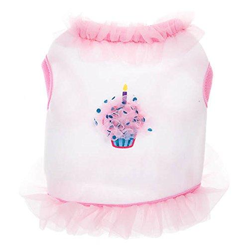Top Paw Geburtstagskostüm für Hunde, Cupcake-Motiv, Größe L