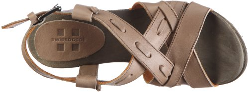 Swissoccoli Holzsandalette 2091, Chaussures femme Gris-TR-C5-2