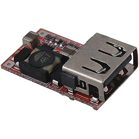 BQLZR Multicolor DC 5V 3A cargador USB Paso abajo ajustable Módulo Buck Convertidor De Voltaje
