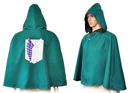 Angriff Eren Cosplay Kostüm Titan Auf (CoolChange Attack on Titan Umhang Aufklärungstrupp Cosplay Shingeki no Kyojin Cape)