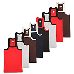 Wyatt Mens Cotton Gym Vest(1017_Multicolor_L)