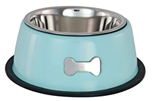 Buckingham Single Dog Bowl Blue (0.45 Ltr) by BIIA4
