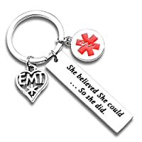 ecobuty EMT Gift Paramedic Gifts She Believed She Could So She Did Inspirational Gift for Nurse Emergency Medical Technician Gift EMT Graduation Gifts