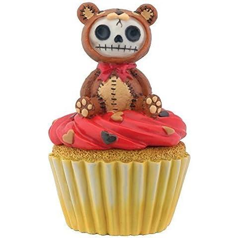 Brown Honeybear Furry Bones Cupcake Box Collectible Display Figurine by Summit