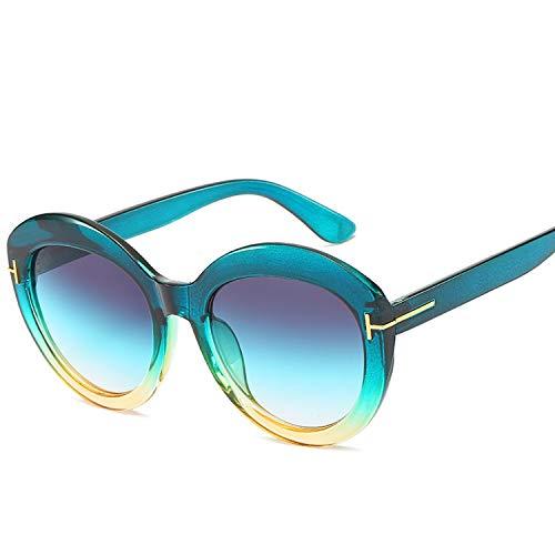 FIRM-CASE Retro-Sonnenbrille-Frauen-Männer-Qualitäts-Driving-Runde Sun-Glas-Marken-Weinlese-Lunette De Soleil Homme, 6