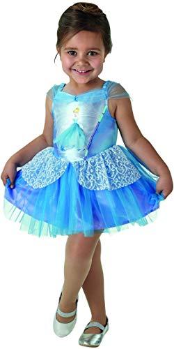 Kostüm Ballerina Disney Schneewittchen - Luxuspiraten - Mädchen Kinder Ballerina Cinderella Kostüm mit Kleid incl 3D Motiv, perfekt für Karneval, Fasching und Fastnacht, 92-98, Blau