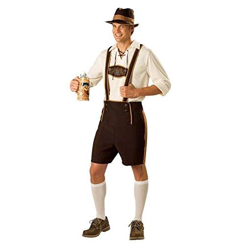 Sasairy Uomo Set di Oktoberfest Costume Costume da Bavarese + Camicia de Maniche a Tre Quarti + Cappello Cosplay Abbigliamento
