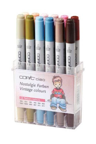 Copic Ciao - Nostalgie Farben - 12er Set