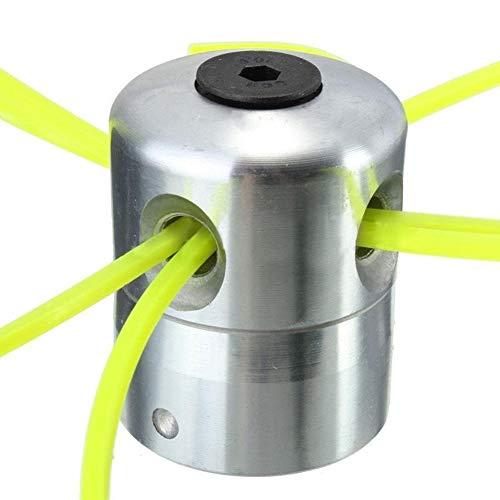 Selotrot Rasentrimmerkopf aus Aluminiumlegierung mit 4 Linien Freischneidekopf Rasenmäherzubehör