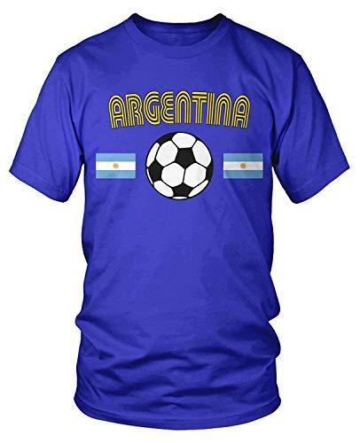 Men's Argentina Soccer, Football, Argentine Flags T-Shirt XL -