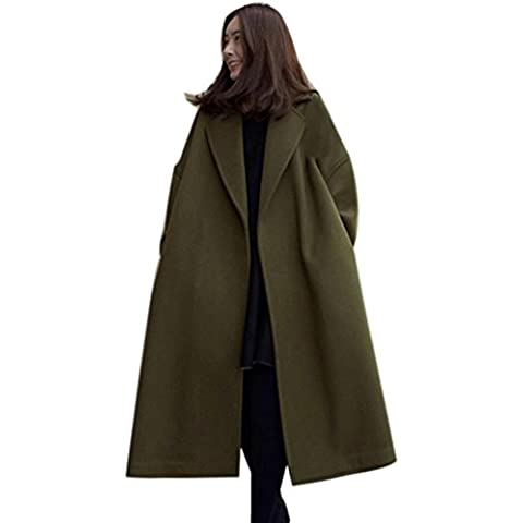 OverDose La moda de Nueva señora de las mujeres del invierno caliente de la capa larga rompevientos Parka