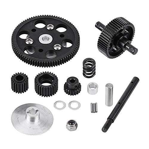 RC Car Straight Gear, Metal RC Center Gearbox Straight Gears Set for SCX10  RC Model Car Component Parts Accessories