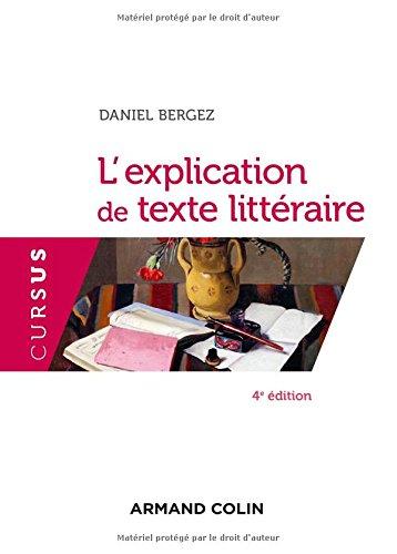 L'explication de texte littraire - 4e d.