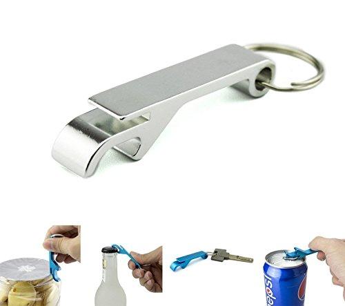 zedtom Mini aleación de aluminio abrebotellas Abridor con Llavero (Plata)