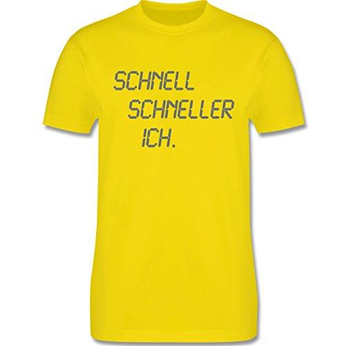 Laufsport - schnell - schneller - ich - Herren Premium T-Shirt Lemon Gelb