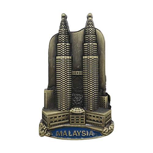 3D Metall Kühlschrankmagnet Reise Souvenirs Kühlschrank Magnet Home and Kitchen Dekoration Magnet Sticker Collection Kuala Lumpur Twin Towers Malaysia