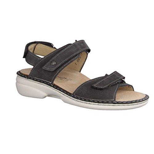 Finn Comfort Alora-Soft- Damenschuhe Sandale bequem / lose Einlage, Grau, leder (patagonia)  Grau