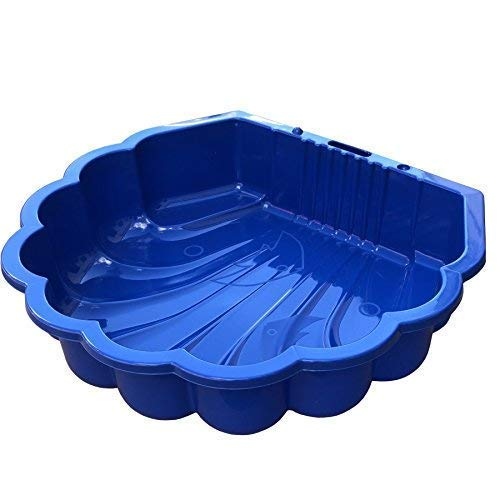 TikTakToo Sand & und Wassermuschel I Sandkasten mit Abdeckung (bei 2 Stück) I (blau)