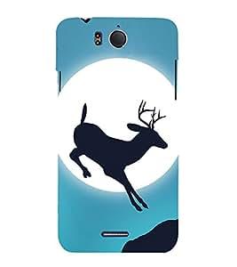 Deer Design 3D Hard Polycarbonate Designer Back Case Cover for InFocus M530