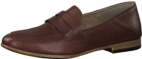 Tamaris Damen Slipper 24225-21,Frauen Schlüpfschuh,Slip-on,modisch,Freizeitschuh,Blockabsatz 2cm,Cognac Leather,EU 36