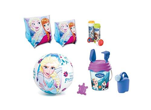 Chance srl irpot - set n 3 accessori mare bambini (braccioli + palla + set secchiello + bolle) (frozen)