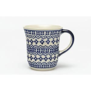 Boleslawiec tea mug 0.3 L,hand made, pattern 922