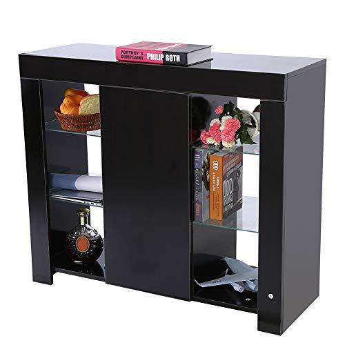 Schlafzimmer Mdf Schrank (Cocoarm Ablageschrank Mehrzweckschrank Moderner Schrank Küchenschrank Büromöbel Raumsparender Lagergestell mit RGBW LED Streifen für Küche Schlafzimmer Wohnzimmer (97,5 x 35 x 83,5 cm))
