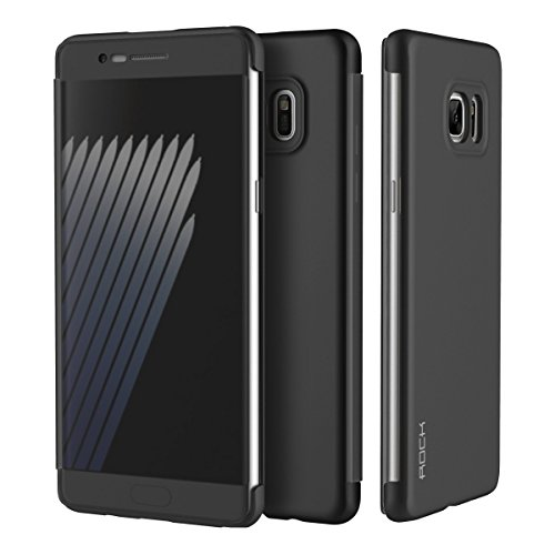 Rock Dr V Smart Ultra Slim Flip Cover Protective Case for Samsung Galaxy Note 7 (Black)  available at amazon for Rs.745