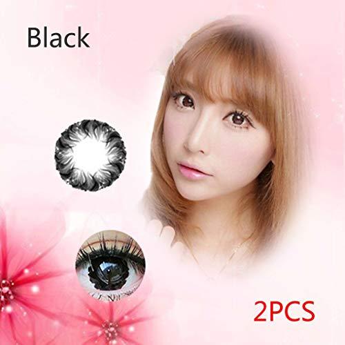 Gankmachine 2ST Muse Kontaktlinsen Big Durchmesser Farbige Kontaktlinsen-Objektiv Cosmetic Augen-Objektiv -