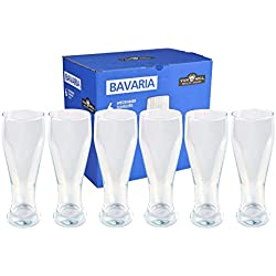 Juego de 6 vasos para cerveza de trigo de Bavaria, 0,5 L