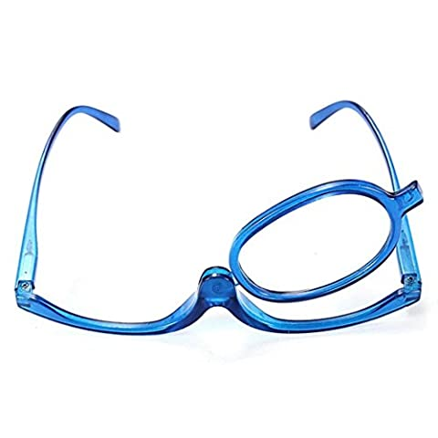 Ungfu Mall Blue Magnifying Glasses Makeup Reading Glass Folding Eyeglasses Cosmetic (#02 (Lens Lente Pieghevole)