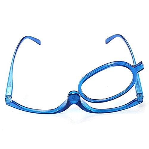 Ungfu Mall Blu Occhiali lente di ingrandimento Occhiali da lettura pieghevole Cosmetic