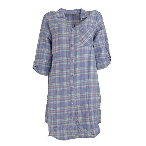 Follow That Dream Damen Nachthemd, kariert (38/40 DE) (Lila kariert)