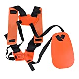 X-Mile Schultergurt Verstellbarer Doppelschultergurt für Trimmer Bürste Freischneider Schwarz Orange