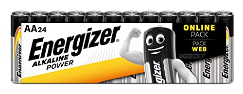 Oferta de Energizer Pilas AA, pilas alcalinas de potencia doble A, 24 unidades