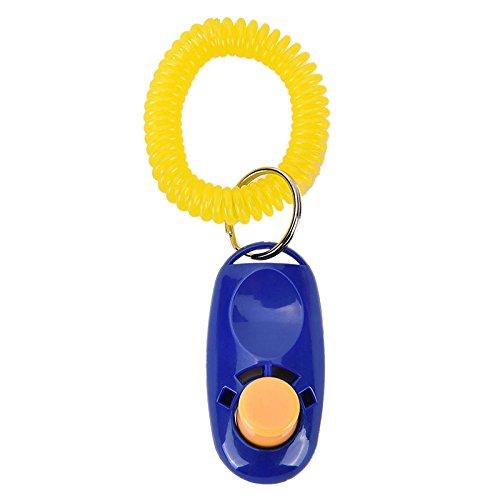 Merssavo 1 Stück Blau Haustier Hund Klicken Clicker Trainings-Obedience Agility-Trainer-Hilfsmittel-Handgelenk-Bügel TB (Clicker-training Trainer)