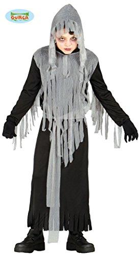 Fiesta Guirca Geister Sensenmann Kostüm für Kinder Senseman Geist Halloween Horror Halloweenkostüm (Kind Sensenmann Kostüme)