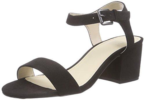 Another Pair of Shoes SelinaaK2, Damen Knöchelriemchen Sandalen, Schwarz (black01), 41 EU