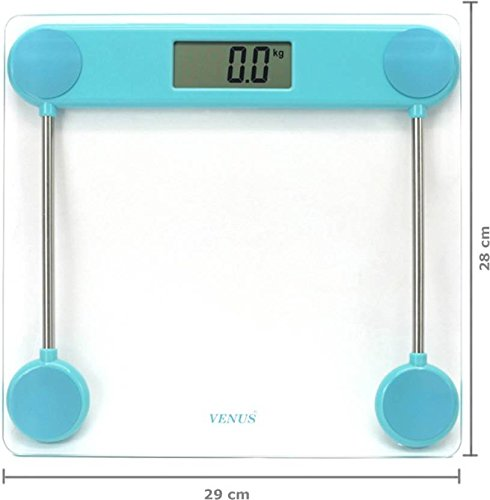 Venus Blue Personal Electronic Digital LCD Weight Machine Body Fitness Weighing Bathroom Scale Weight Machine  available at amazon for Rs.999