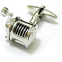 Tailor B Silver-Gemelli a forma di mulinello da pesca, per
